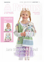 1x Patons Pattern Leaflet Smoothie DK Girls & Doll Sewing Craft Tool UK