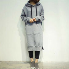 ebb2764cd64 Women s Long Sleeve Loose Casual Plus Sweatshirt Hoodies Long Maxi Dress ~~