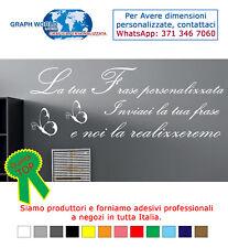 WALL STICKERS ADESIVI MURALI 30x60 ADESIVO MURO FRASI PERSONALIZZATE