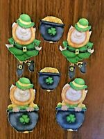 Irish Leprechaun and Pot of Gold - 6 - Iron-On Fabric Appliques.