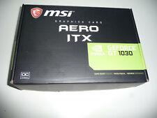 Grafikkarte MSI GeForce GT 1030 Aero ITX 2GD4 OC, 2GB DDR4, DVI, HDMI, Neu.