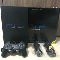 Sony PlayStation 2 Midnight Black SCPH-50000NB Game Console  From Japan F/D [K]
