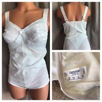 NWOTS Glamorise Body Shaper Girdle White Nylon Stretch EyeHook Crotch Bra 38B