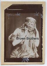 "Vintage 1890s Broadway Bohemian Dancer Loie Fuller as ""Salome"" Mounted Photo #1"