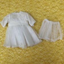 Vtg Kingstate DollCrafter Fancy White Dress w/Crinoline May Fit American Girl
