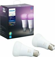Philips Hue White & Color Ambiance A19 Bluetooth Smart LED Bulb (2-Pack)