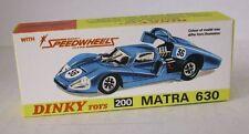REPRO BOX DINKY n. 200 MATRA 630