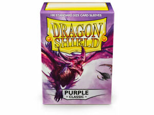 Dragon Shield 100 Count Standard Size Classic Deck Protector Sleeves (Purple)