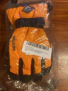hestra gauntlet czo e junior glove orange graphite size 3 snow skiing