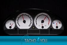 Disco TACHIMETRO PER BMW e46 Tachimetro Benzina od DIESEL m3 BIANCO 3061 Tachimetro Bianco