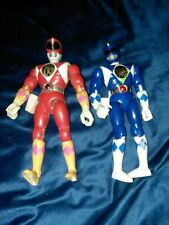 1993 1994 Vintage Power Rangers Action Figure Lot Bandai Red and Blue Rangers
