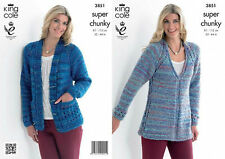 King Cole  Super Chunky  Knitting Pattern 3851:  Tunic & Cardigan