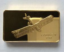 Franklin Mint Gotha G.V 1917 24 kt GP Bronze Ingot A4146