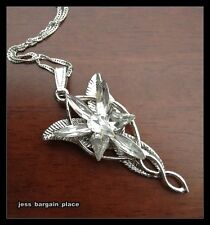 White gold GF the Lord of Rings Arwen Evenstar Necklace Crystal NEW GIFT Movie