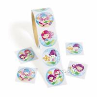 24 Mermaid Stickers   Party Favors    Party Supplies   Under the Sea  Ocean
