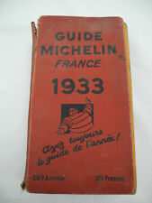 guide Michelin 1933 guide rouge old french Michelin red guide alte rote führer