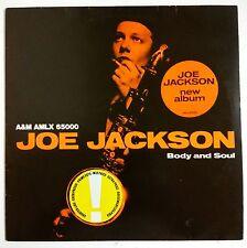 "Joe Jackson Body And Soul LP Holanda original 1984 ""sticker"" en portada"