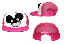 Deadmau5 Pink Big Face Logo Trucker Hat Snapback Cap