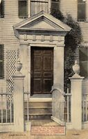 Salem Massachusetts~Boardman House~Washington Square~Colonial Doorway~c1912 PC