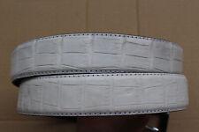 No Jointed White Genuine Alligator Crocodile Belt Skin Leather Men's - W 1.3inch