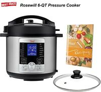 6QT Programmable Pressure Cooker 10-in-1 Multifunctions & 17 Cooking Presets