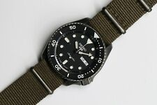 SEIKO SRPD91 5 SPORT BLACK ION FINISH WATCH WITH GREEN NYLON STRAP US Market