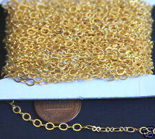 32 ft Gold Plated Figure 8 Connector Chain 2.5X3.1mm