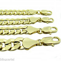 """Curb Miami Cuban Link Chain 14k Gold Plated 24"""" & 30"""" 5mm-10mm Hip Hop Necklace"""