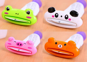 Animal Toothpaste Cosmetic Tube Squeezer Frog Pig Panda Bear 2pc