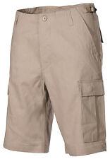 US BDU Bermudas Ejército Caqui Beige Short Pantalones cortos con bolas LATERAL