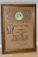 Vintage Pope Pius XII 1953 Papal Blessing Plenary Indulgence Seal Signed Framed