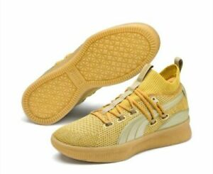 Puma Clyde Court Title Run Metallic Gold  New with box Free Shipping