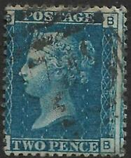 QV 1869 2d  Blue Plate 15  Letters BB Used Sold as Per Scan