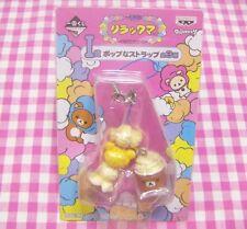 San-X Rilakkuma Bear Popcorn Strap / Japan BANPRESTO Ichiban Kuji Game Cute Toy