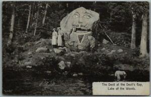 """19134 KENORA, Ont. Canada Postcard """"The Devil at Devils Gap, Lake of the Woods"""""""