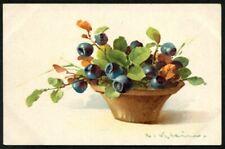 Artist Signed Catharina KLEIN 158 FRUITS MIRTILLI MYRTILLES BLUEBERRIES Postcard