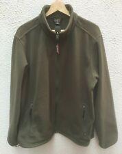 L L Bean Mans Fleece Zip Top Large 48 in Chest Reg Sweatshirt Full Green Pockets