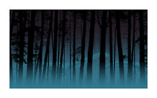 """Dan McCarthy """"Ghost Pines """" screen print poster limited edition Glow in the dark"""