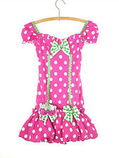 Mini Dress Body Con Women's Medium Puff Ruffle Pink Polka Dot Cosplay Rave Fairy