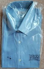 "Inigo Jones, Long Sleeve, Shirt. Pure Silk. Blue. 15""-38 cm"