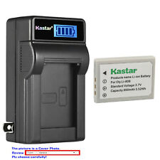 Kastar Battery LCD Wall Charger for Olympus Li-80B Battery Olympus Li80C Charger