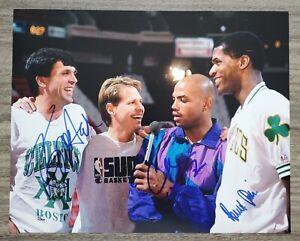 Charles Barkley Kevin McHale Robert Parish Signed 11x14 Photo NBA HOF RAD