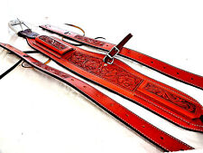 Billy Cook Roper Rear Flank Back Cinch Set Billets Floral Carved Leather Saddle