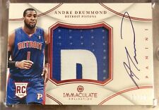 2012-13 Immaculate ANDRE DRUMMOND RED ROOKIE PATCH AUTO RPA /25 Detroit Pistons
