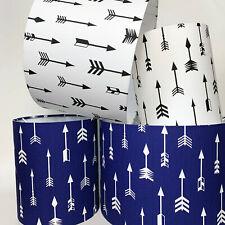 Nursery Babies Black & White, Navy & White Arrow Fabric Light Shade or Lampshade