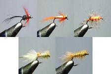"""Hal Janssen Collection ""Set of 5 Steelhead/Salmon Flies"" tied by Hal Janssen"