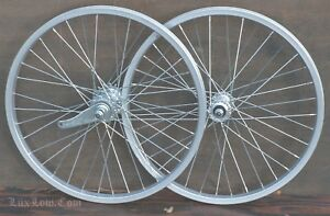 "20"" Muscle Bike WHEELS Vintage Schwinn Stingray Bicycle Coaster Brake Hub Tires"