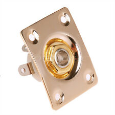 One Electric Guitar Output Input Jack With Square JaCK Plate Gold Plated