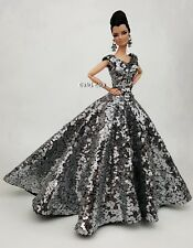 Eaki Platinum Silver Dress Outfit Gown For Silkstone Fashion Royalty Rupaul FR