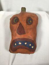 Halloween Pillow Vintage Jack-o-lantern 11 Inches Tall Primitive Art